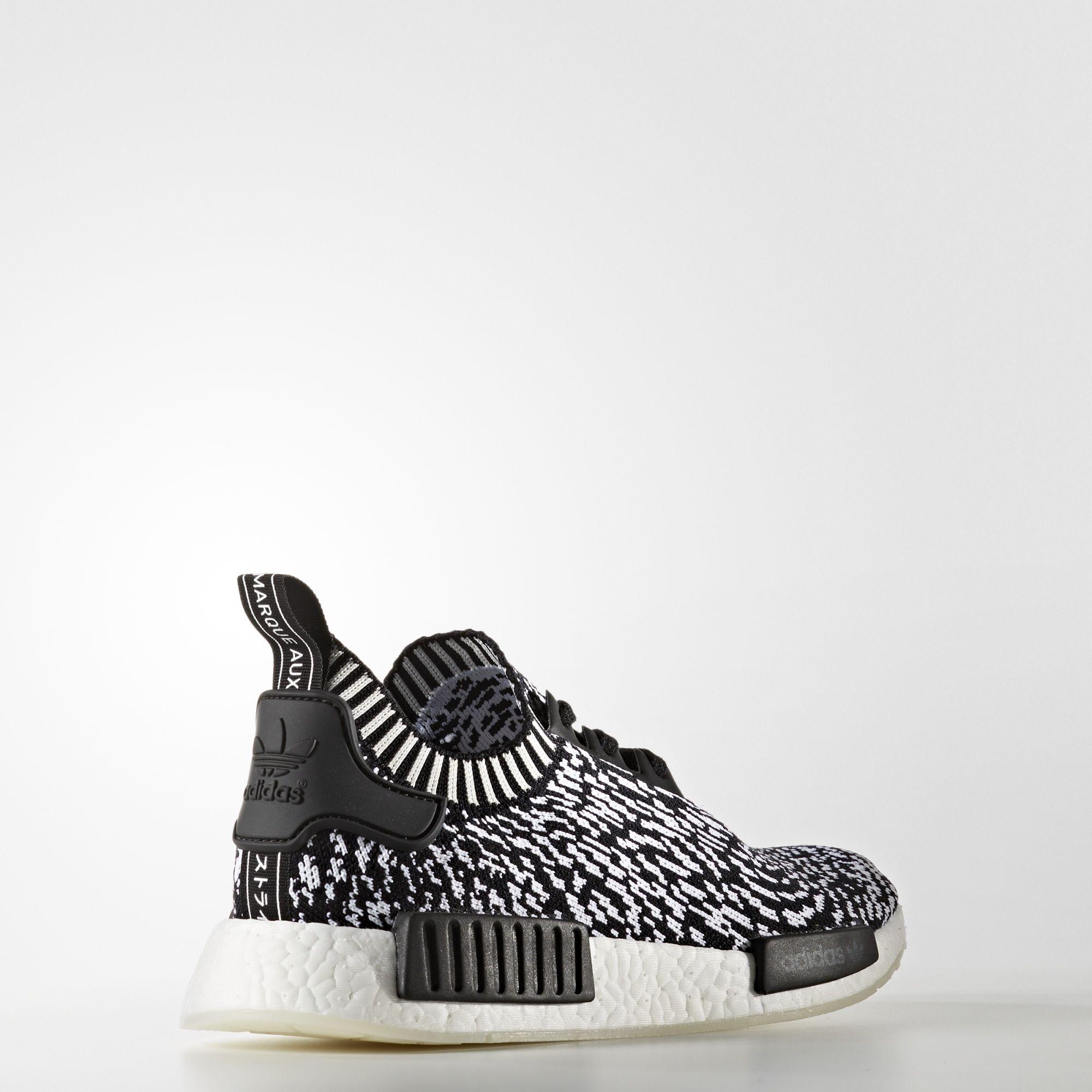 BY3013 adidas NMD R1 Primeknit Black White 3