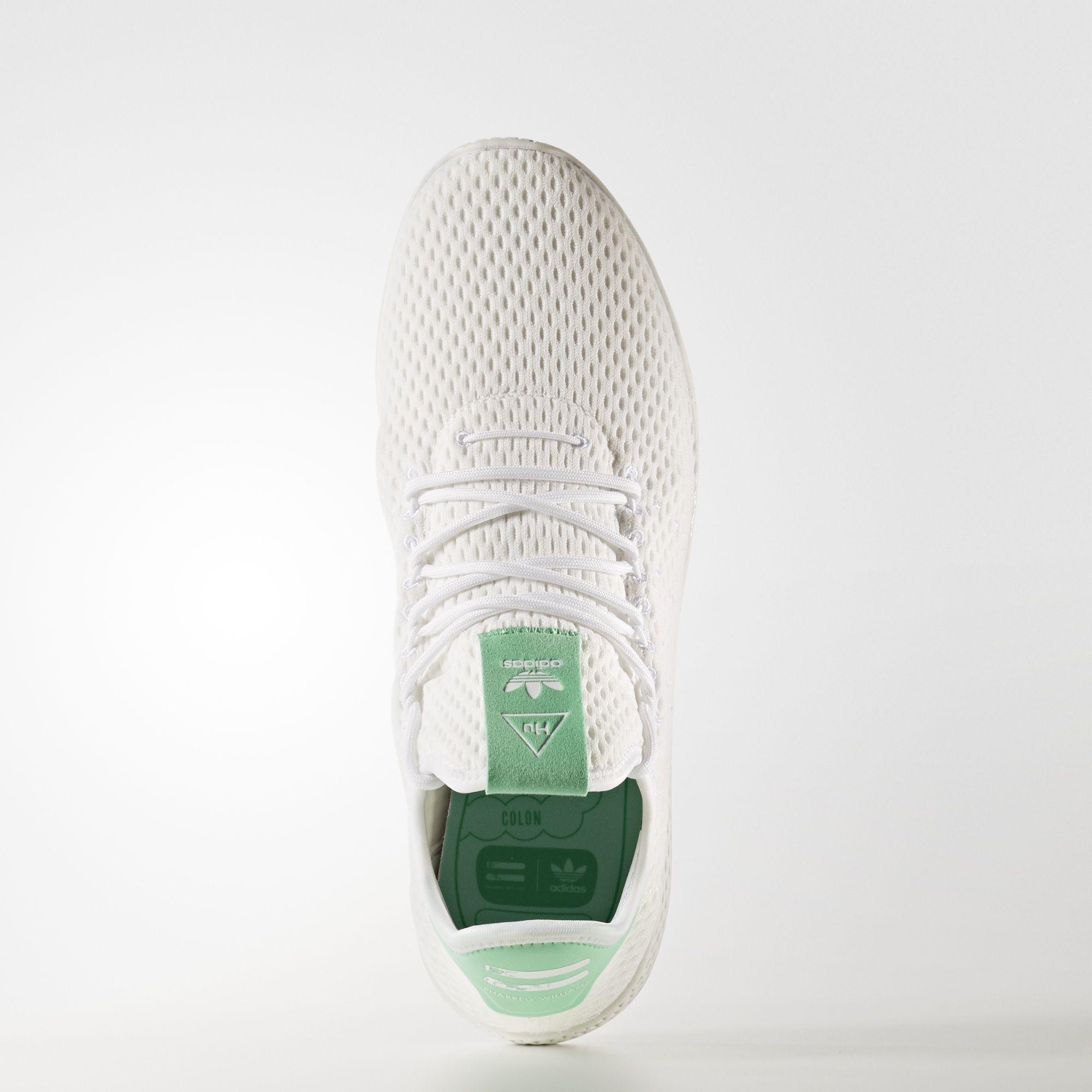 BY8717 Pharrell Williams x adidas Tennis HU White Green Glow 1
