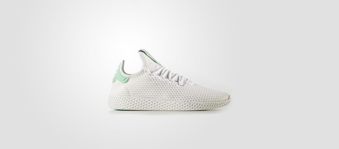 BY8717 Pharrell Williams x adidas Tennis HU White Green Glow