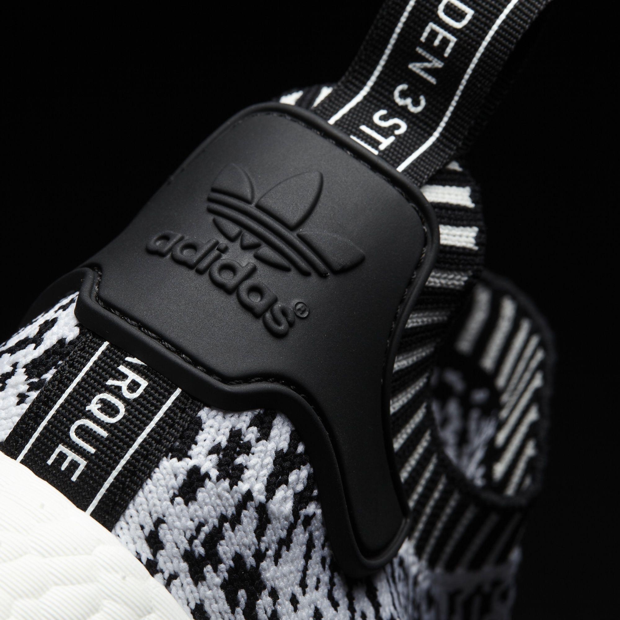 BZ0219 adidas NMD R1 Primeknit White Black 4