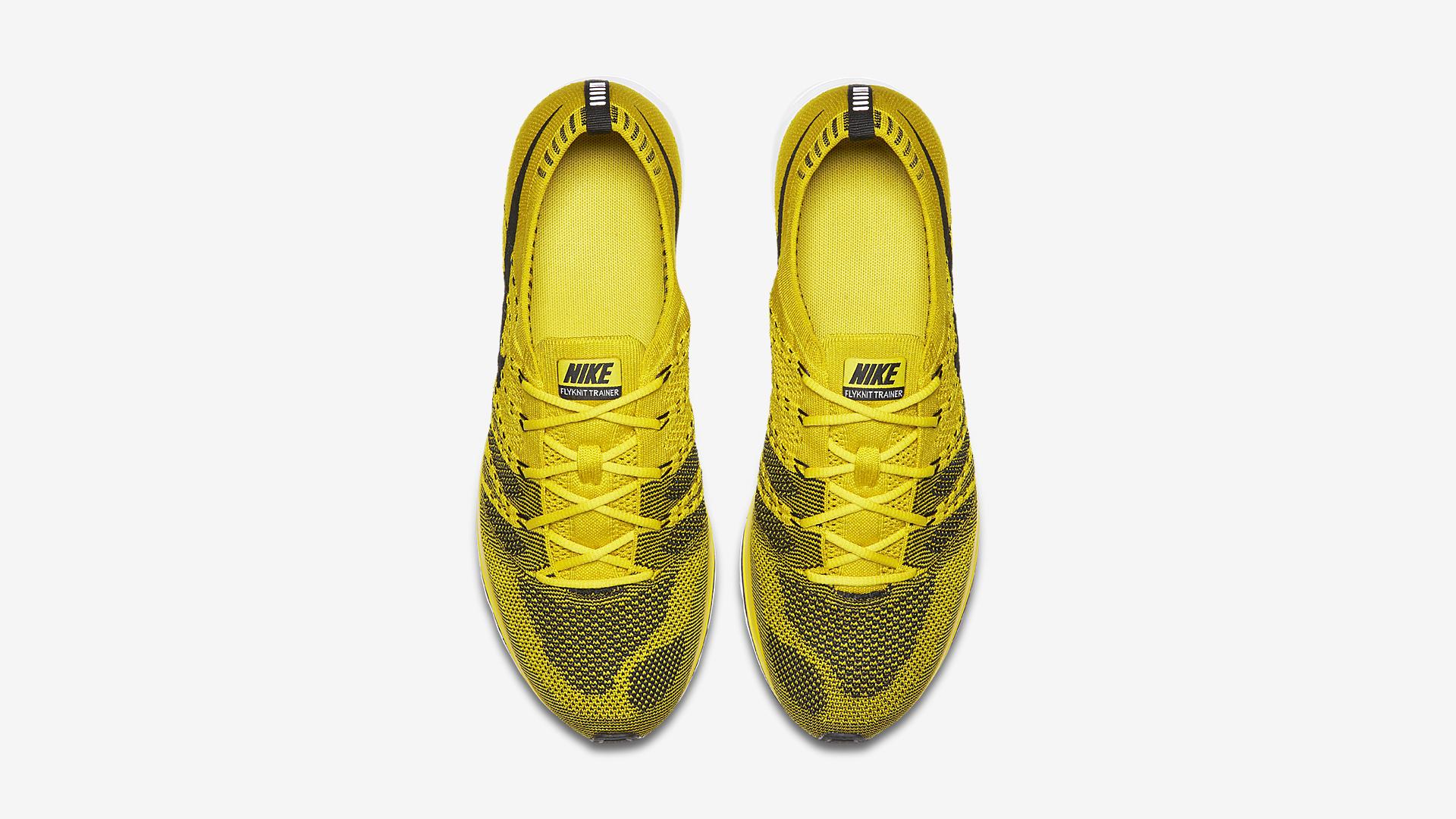 AH8396 700 Nike Flyknit Trainer Citron 3