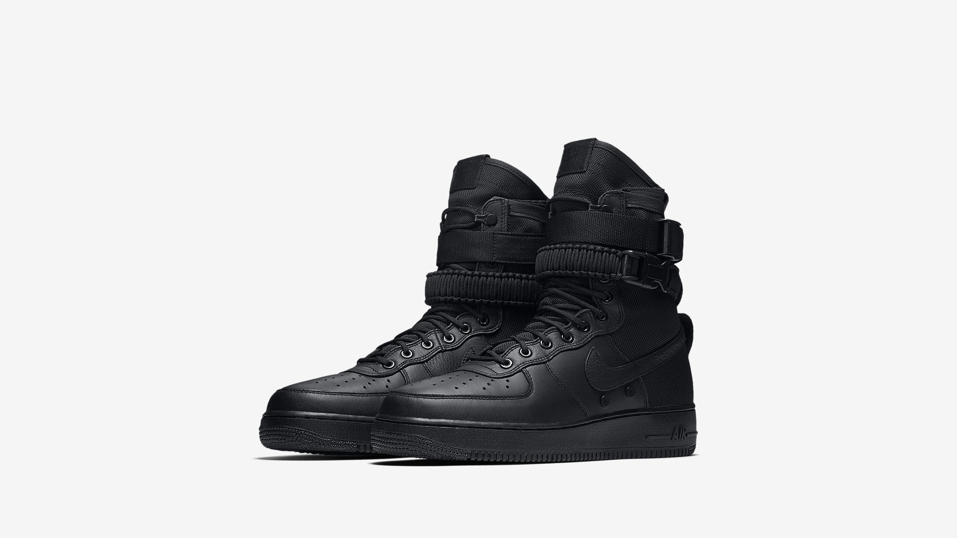 864024 003 Nike SF Air Force 1 Triple Black 1