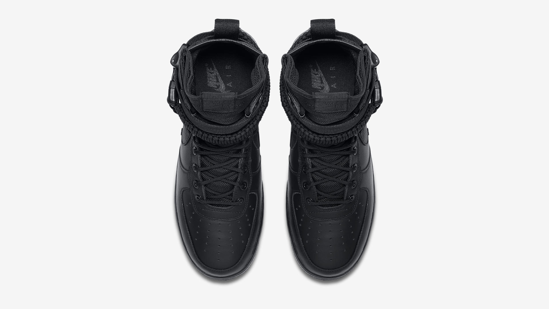 864024 003 Nike SF Air Force 1 Triple Black 3