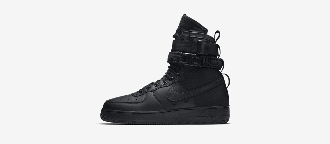 864024 003 Nike SF Air Force 1 Triple Black