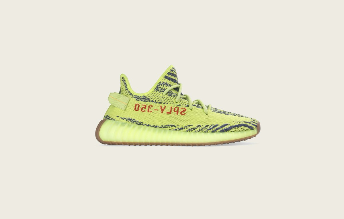 B37572 adidas Yeezy Boost 350 V2 Semi Frozen Yellow 1