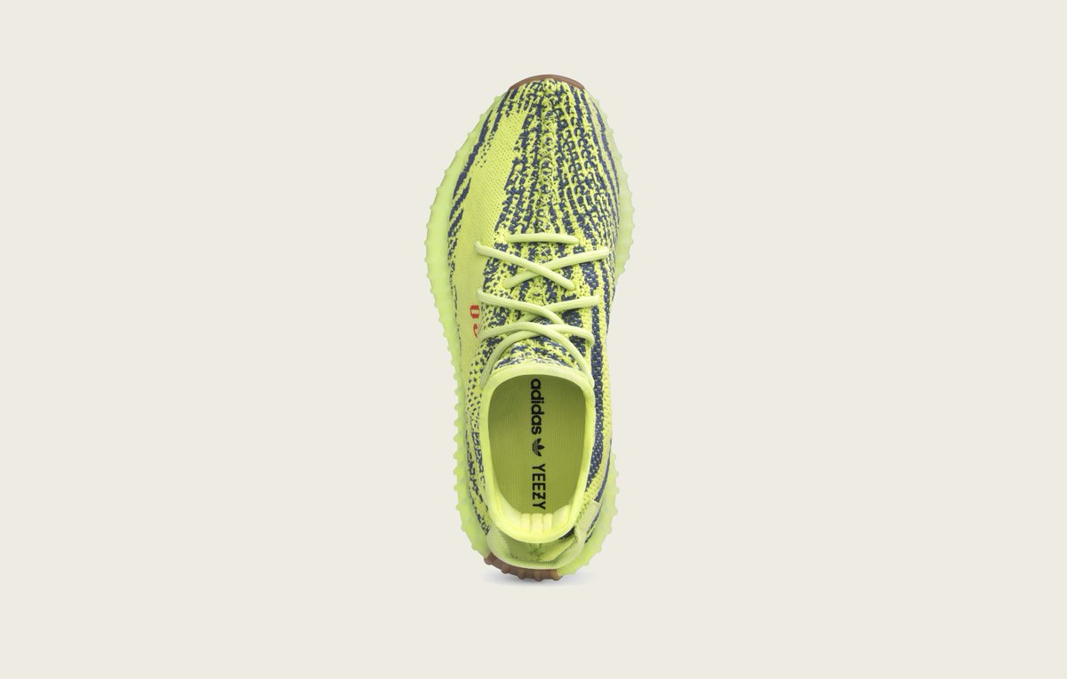 B37572 adidas Yeezy Boost 350 V2 Semi Frozen Yellow 3