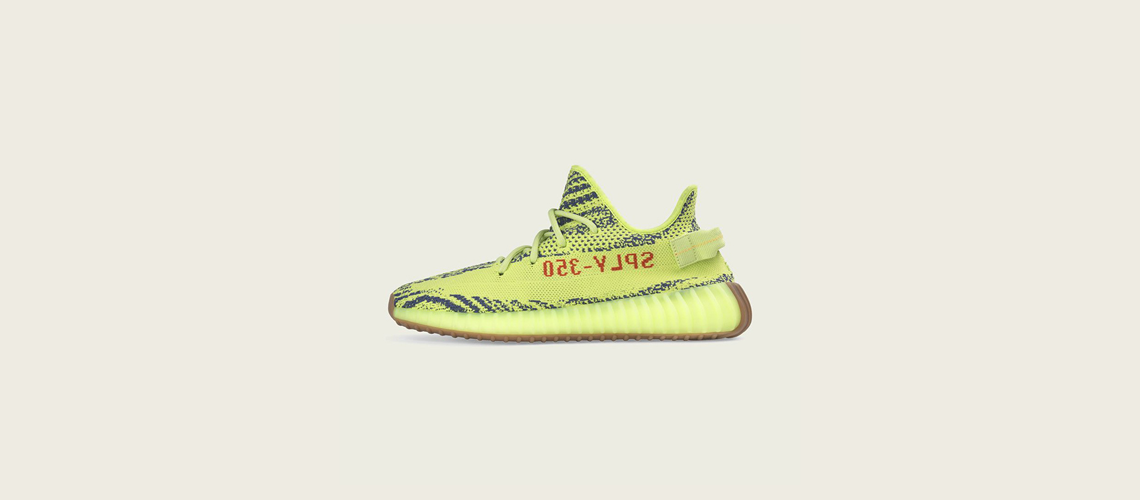 B37572 adidas Yeezy Boost 350 V2 Semi Frozen Yellow