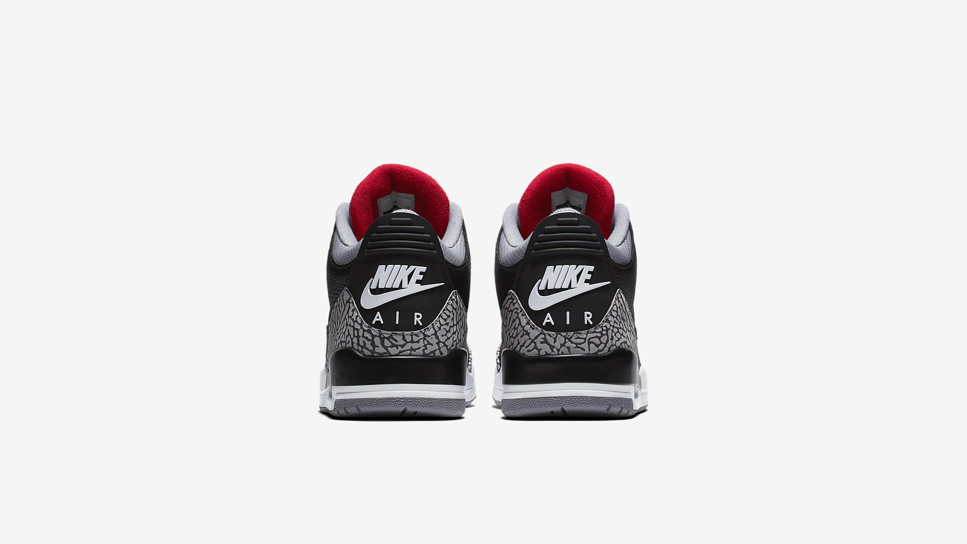 854262 001 Air Jordan 3 Black Cement 1