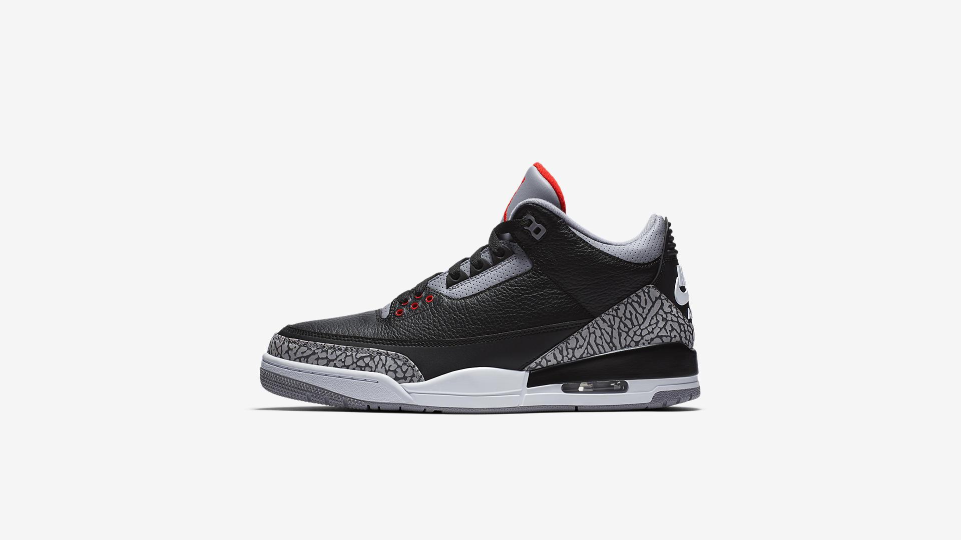 854262 001 Air Jordan 3 Black Cement 5