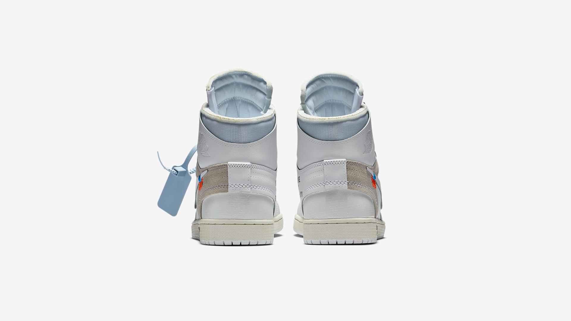 AQ0818 100 Off White x Air Jordan 1 White 1