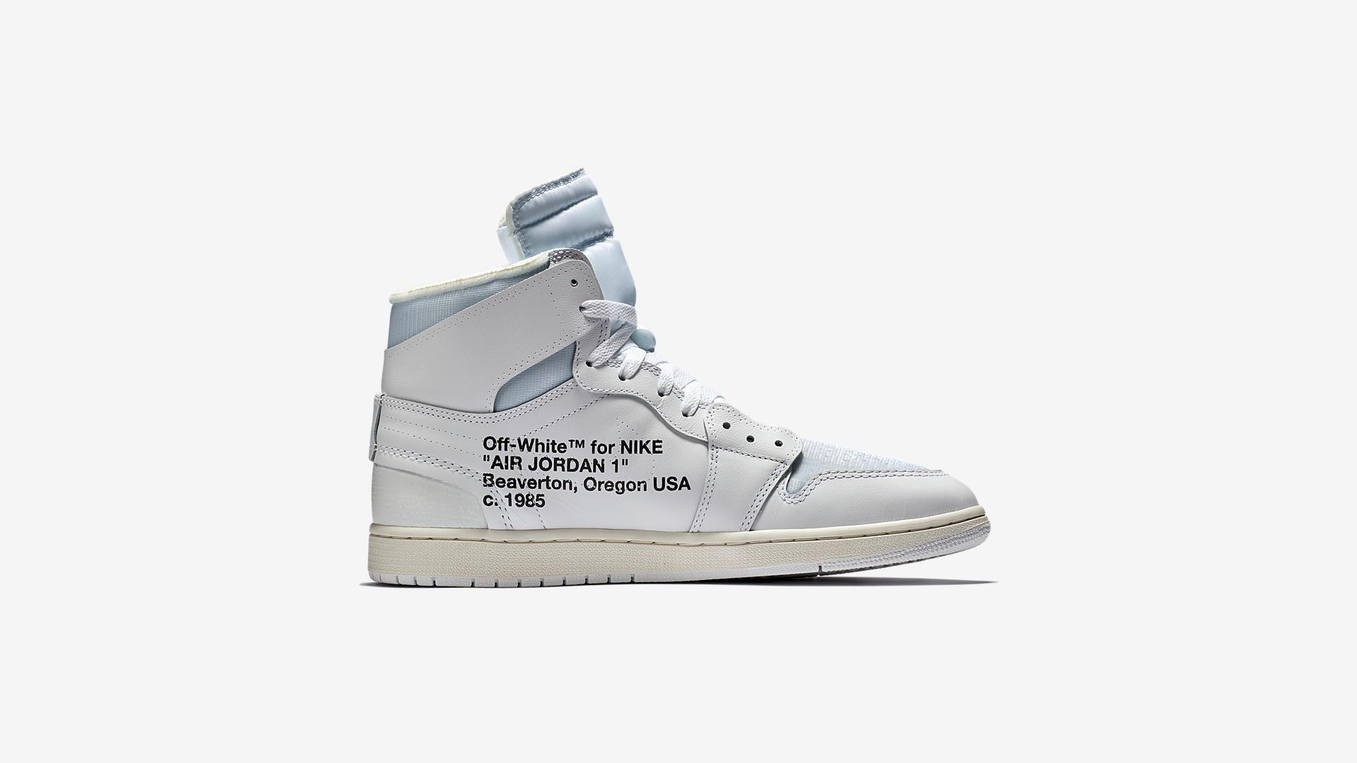 AQ0818 100 Off White x Air Jordan 1 White 3