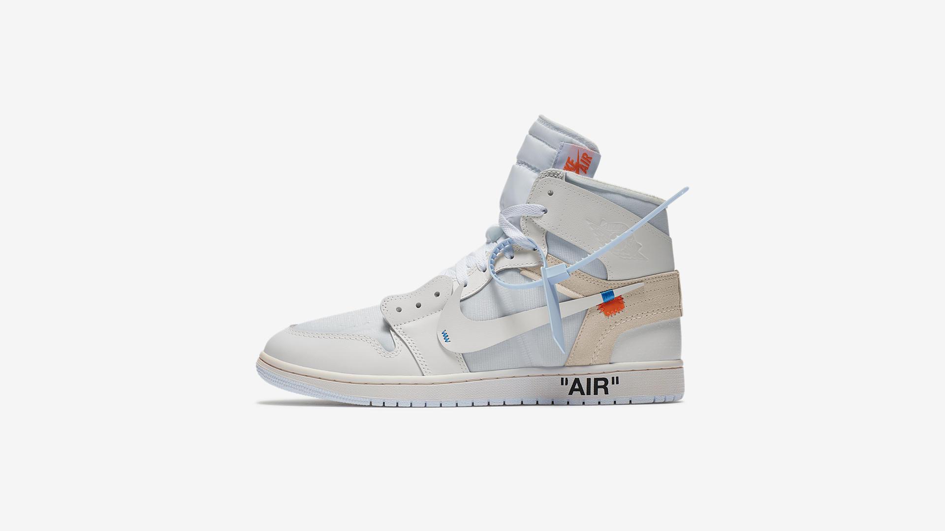 AQ0818 100 Off White x Air Jordan 1 White 5