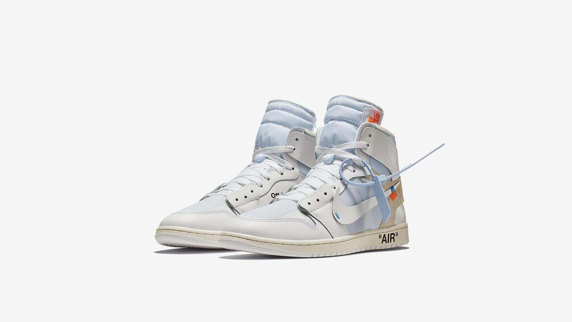 AQ0818 100 Off White x Air Jordan 1 White 6