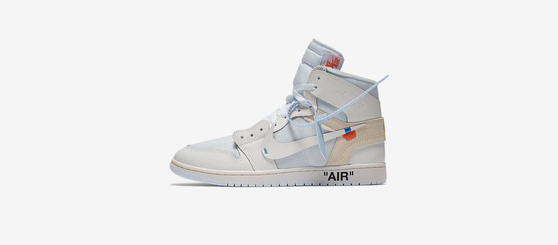 AQ0818 100 Off White x Air Jordan 1 White