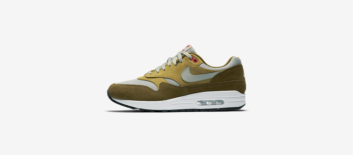 908366 300 Nike Air Max 1 Green Curry