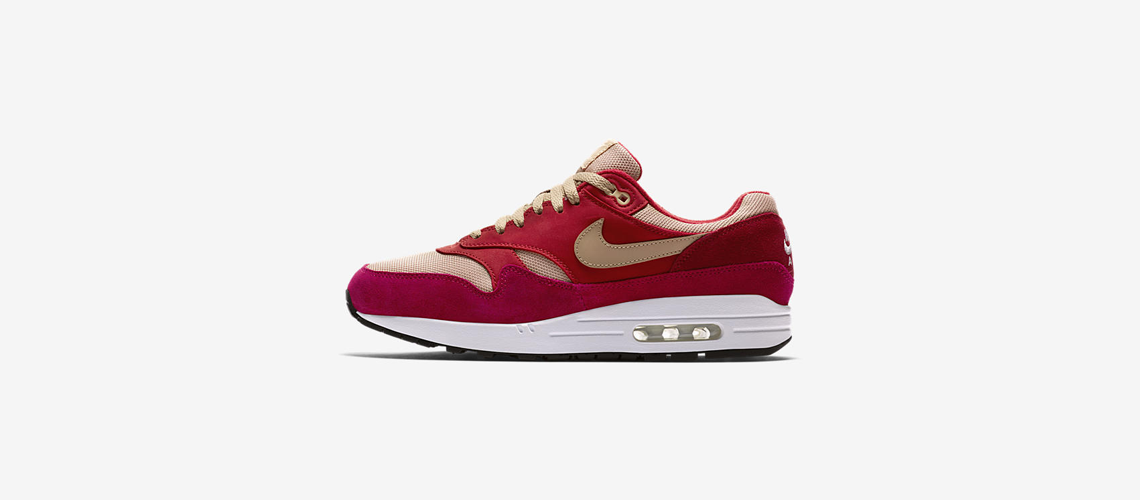908366 600 Nike Air Max 1 Red Curry