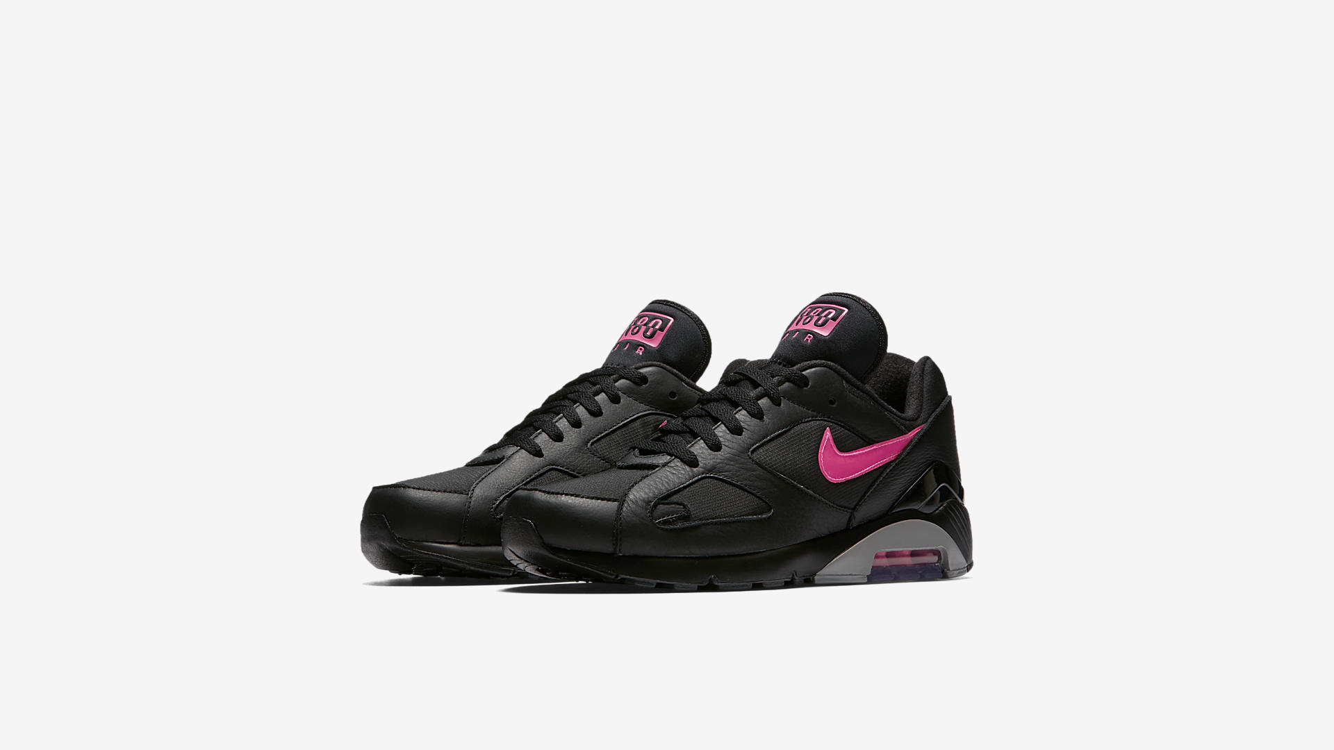 AQ9974 001 Nike Air Max 180 Black Pink Blast 1