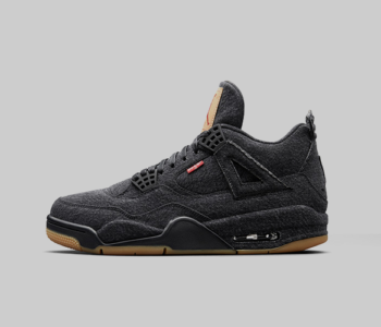 AO2571 001 Levis x Air Jordan 4 Black Denim 350x300