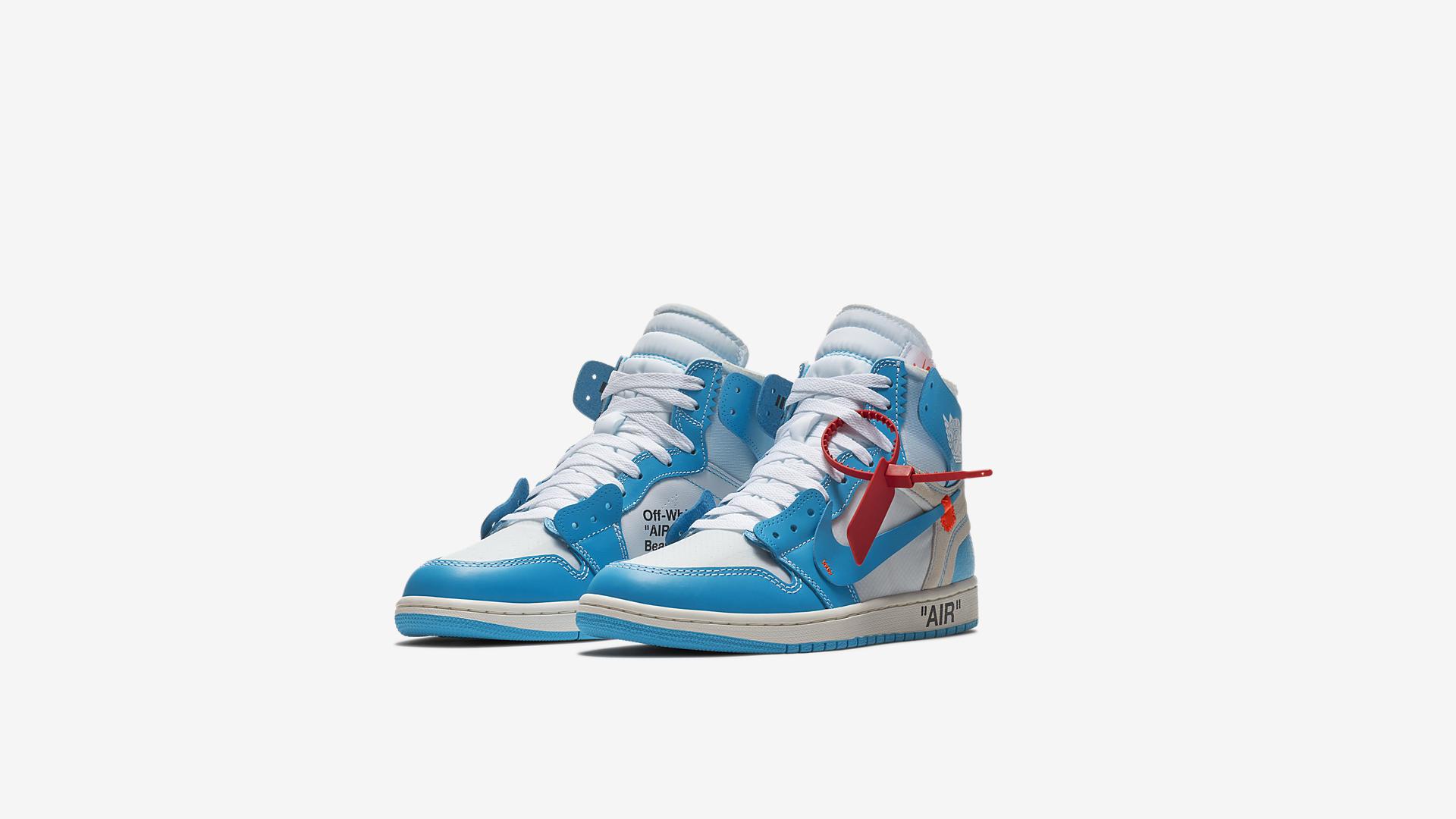 AQ0818 148 Off White x Air Jordan 1 Blue 1