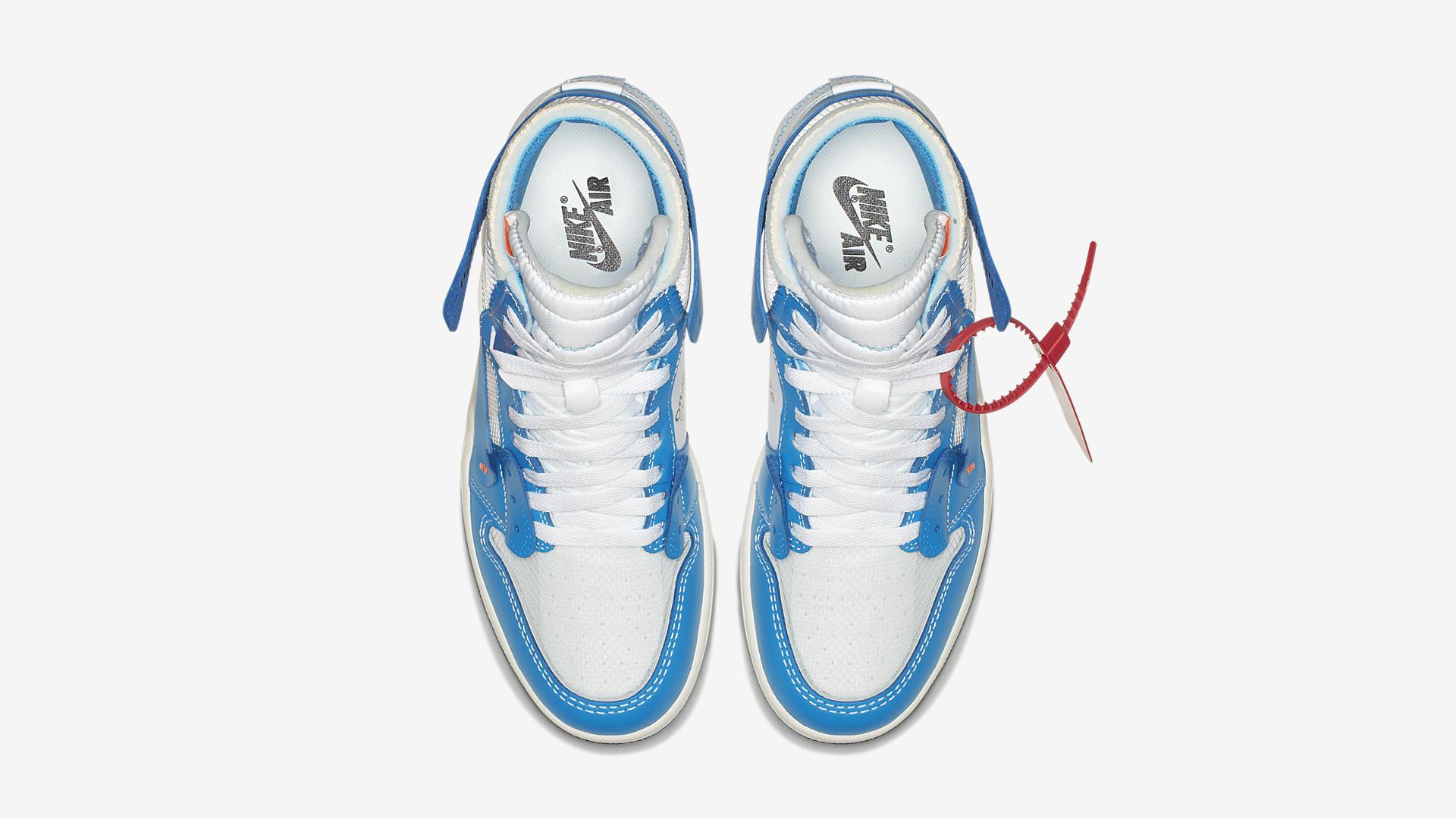 AQ0818 148 Off White x Air Jordan 1 Blue 4