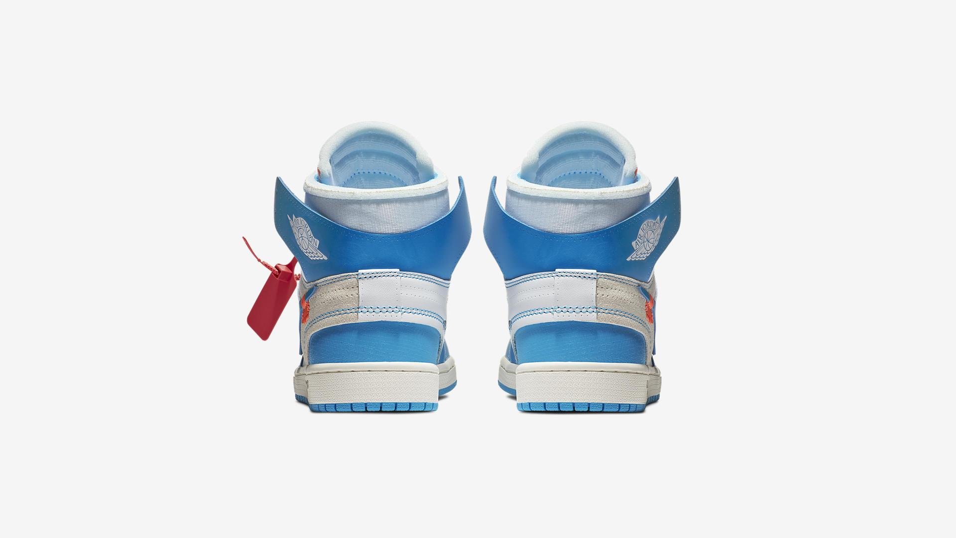 AQ0818 148 Off White x Air Jordan 1 Blue 5