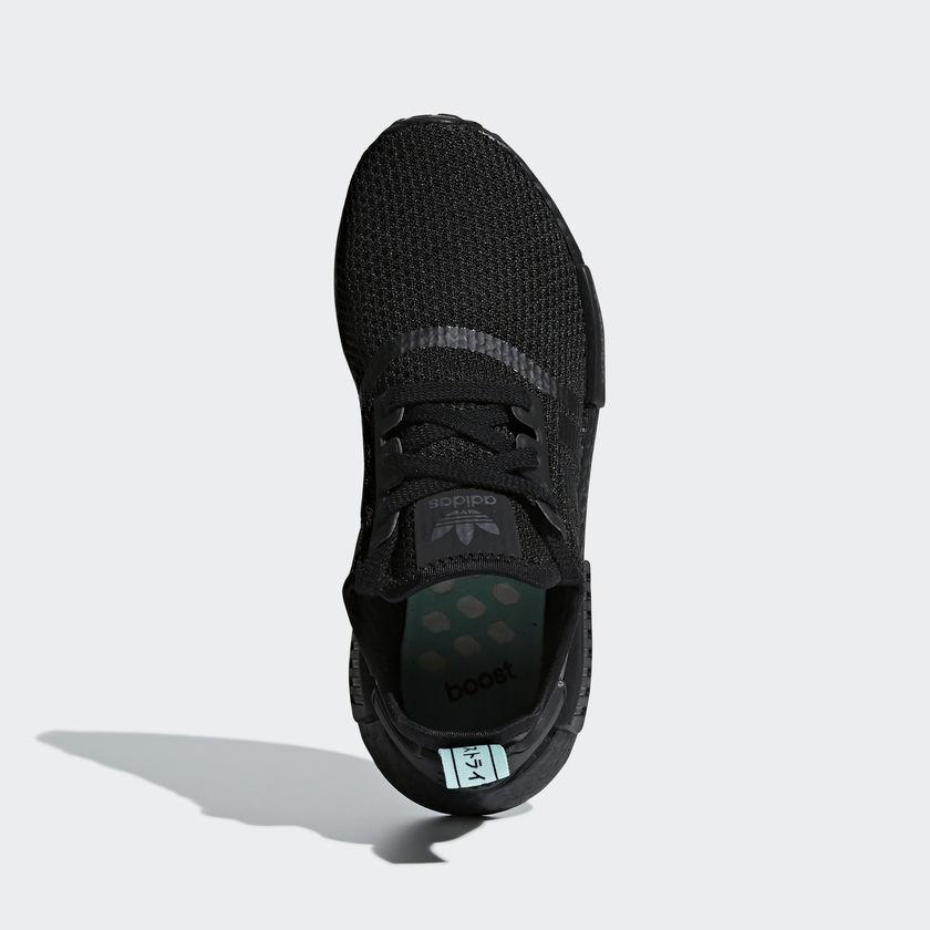 AQ1102 adidas NMD R1 Black Mint 1