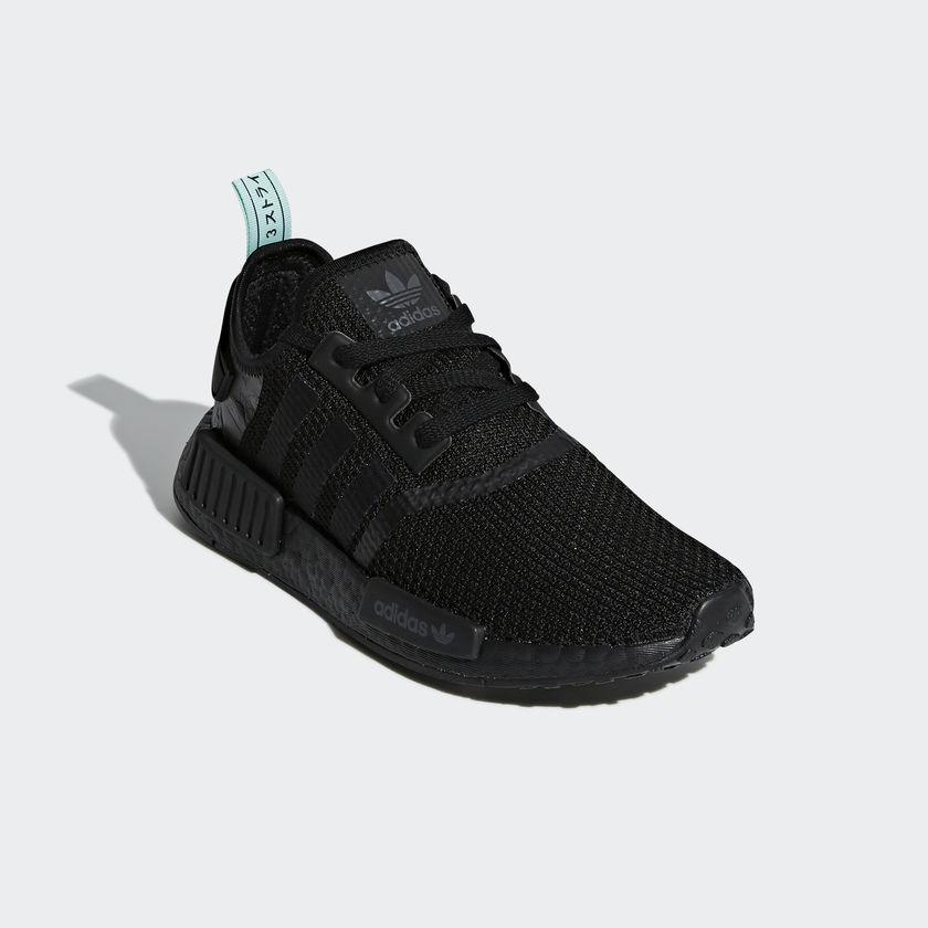 AQ1102 adidas NMD R1 Black Mint 2