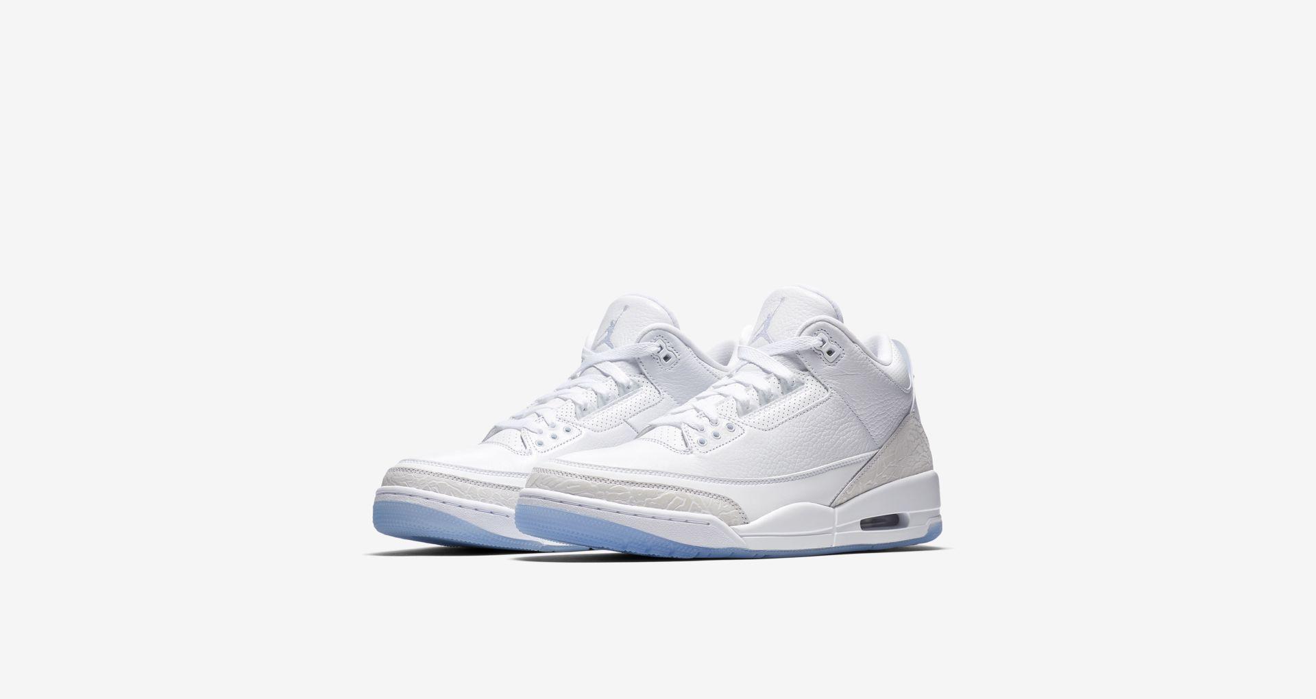 136064 111 Air Jordan 3 Pure White 1