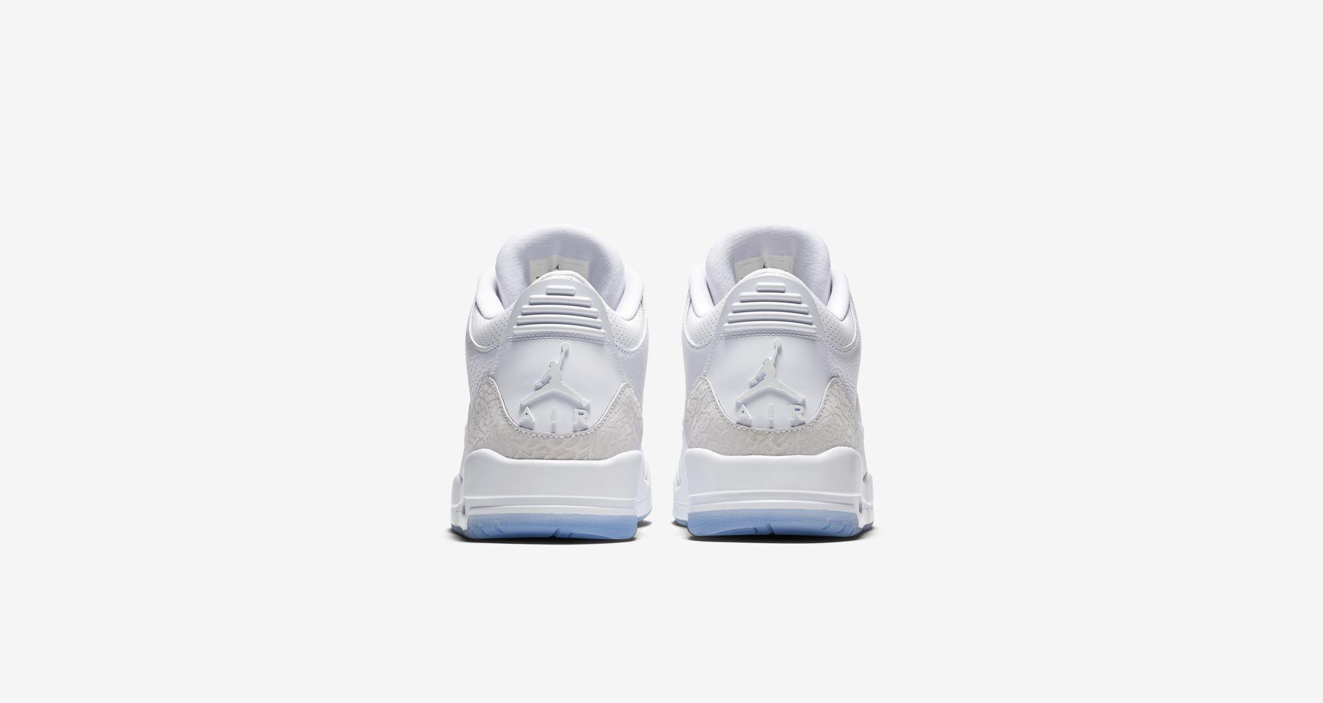 136064 111 Air Jordan 3 Pure White 2