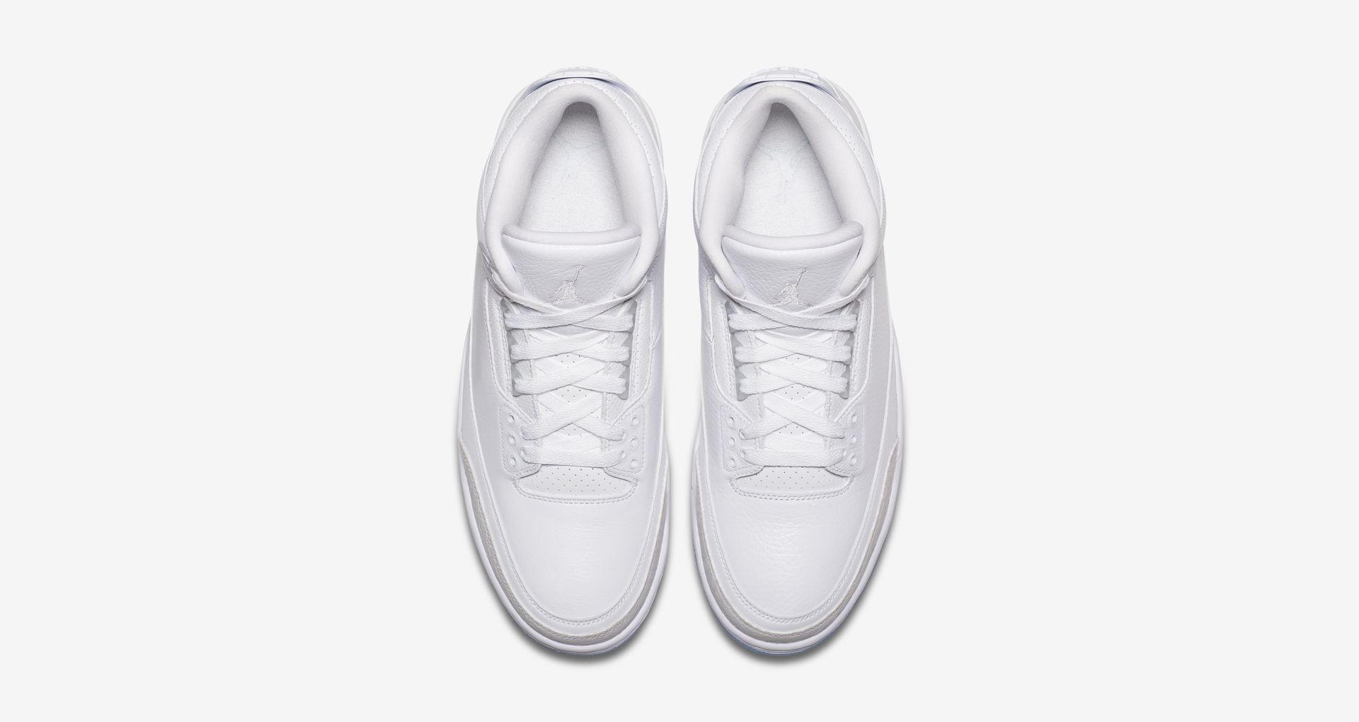 136064 111 Air Jordan 3 Pure White 3
