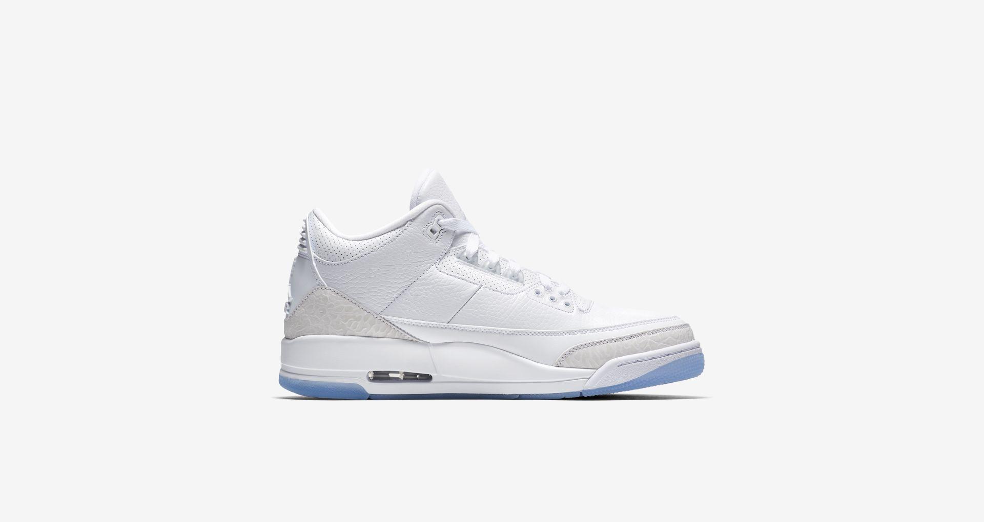 136064 111 Air Jordan 3 Pure White 4