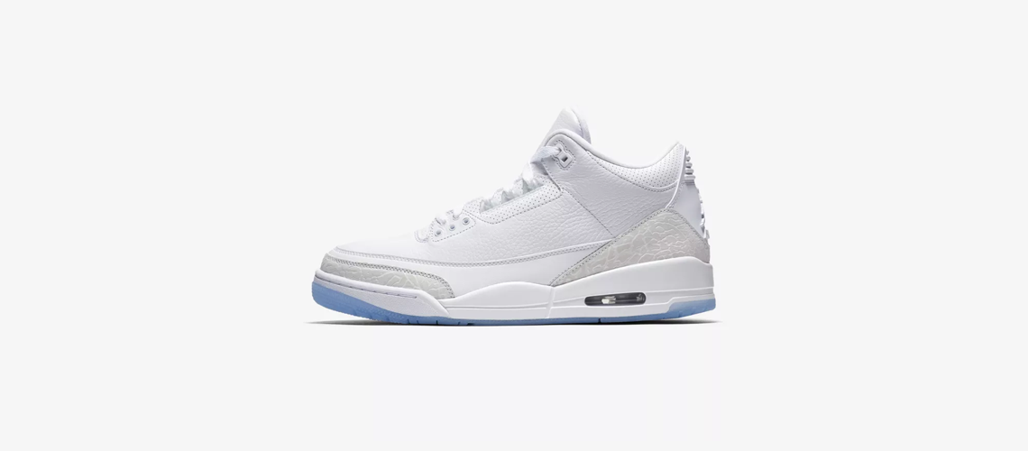 136064 111 Air Jordan 3 Pure White