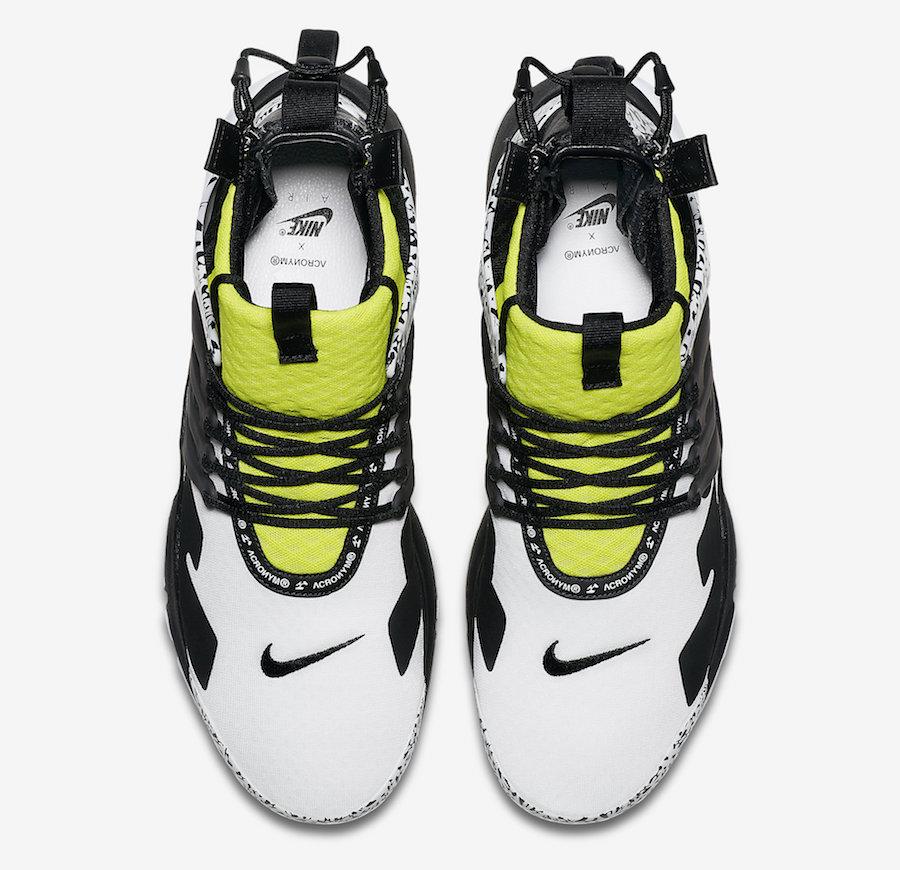 AH7832 100 ACRONYM x Nike Air Presto Mid Dynamic Yellow 4