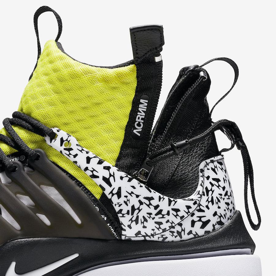 AH7832 100 ACRONYM x Nike Air Presto Mid Dynamic Yellow 7