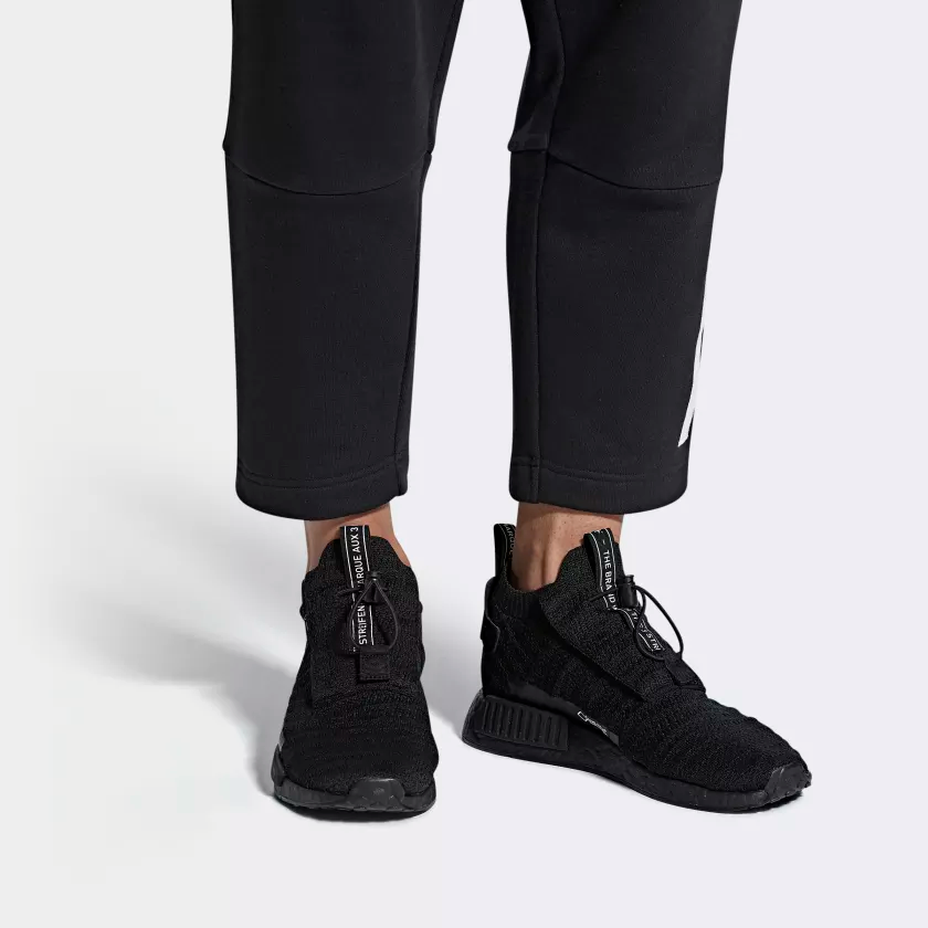 AQ0927 adidas NMD TS1 Primeknit GTX Black 1