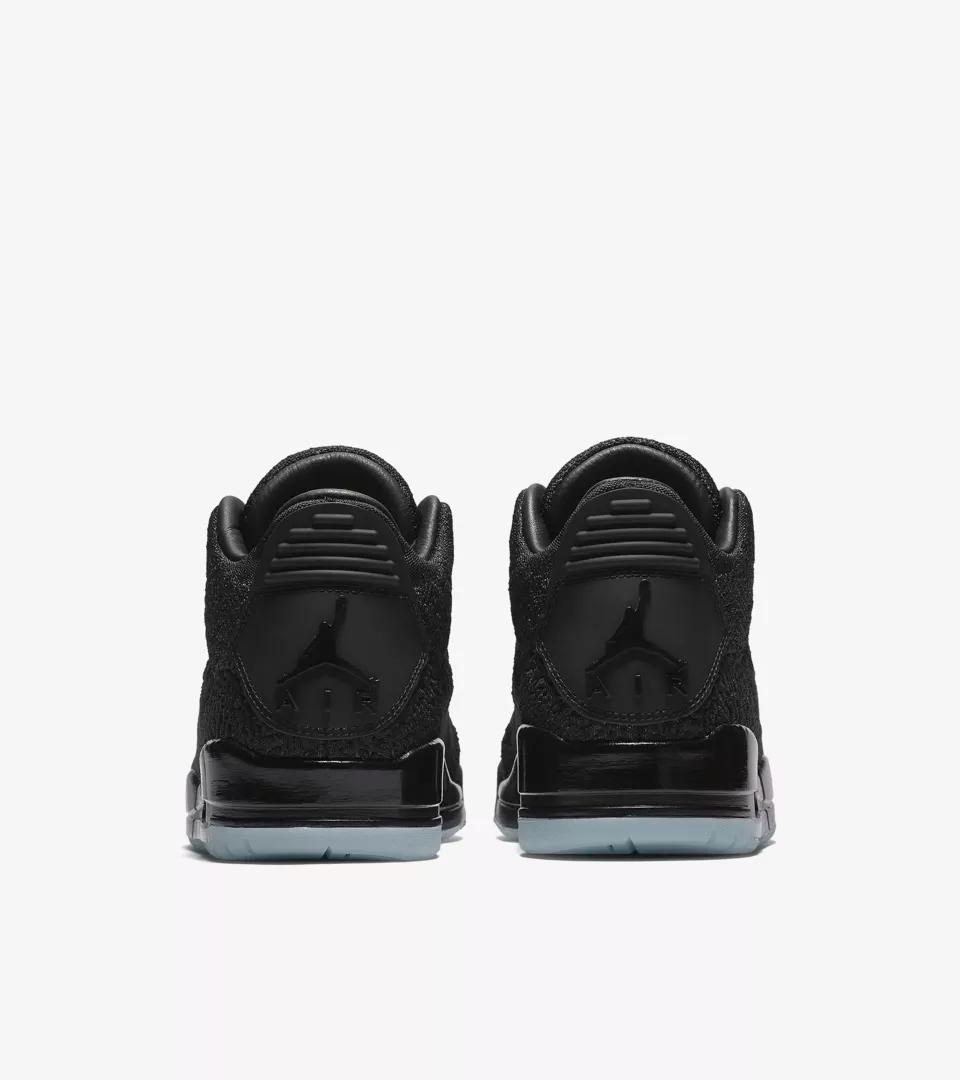 AQ1005 001 Air Jordan 3 Flyknit Black 5