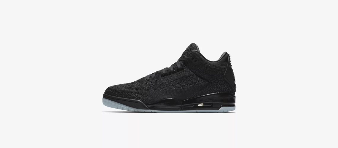 AQ1005 001 Air Jordan 3 Flyknit Black