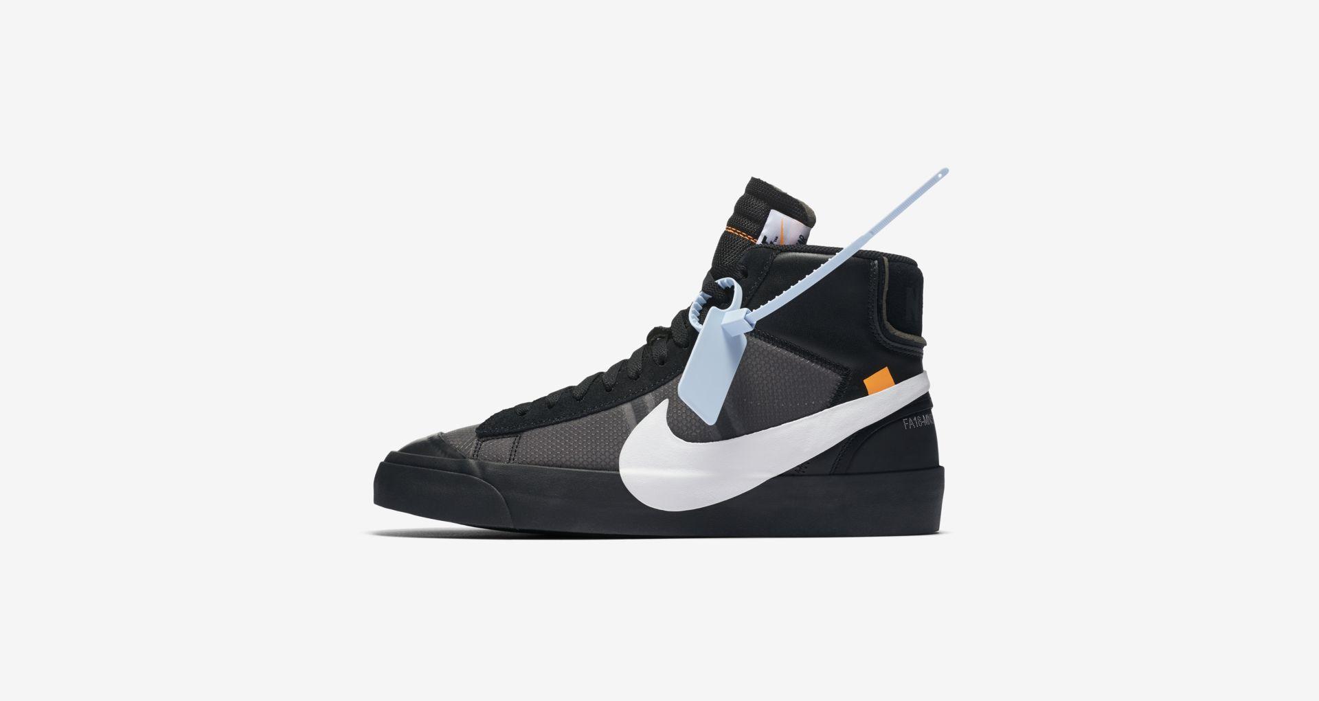 AA3832 001 Off White x Nike Blazer Mid Black 2