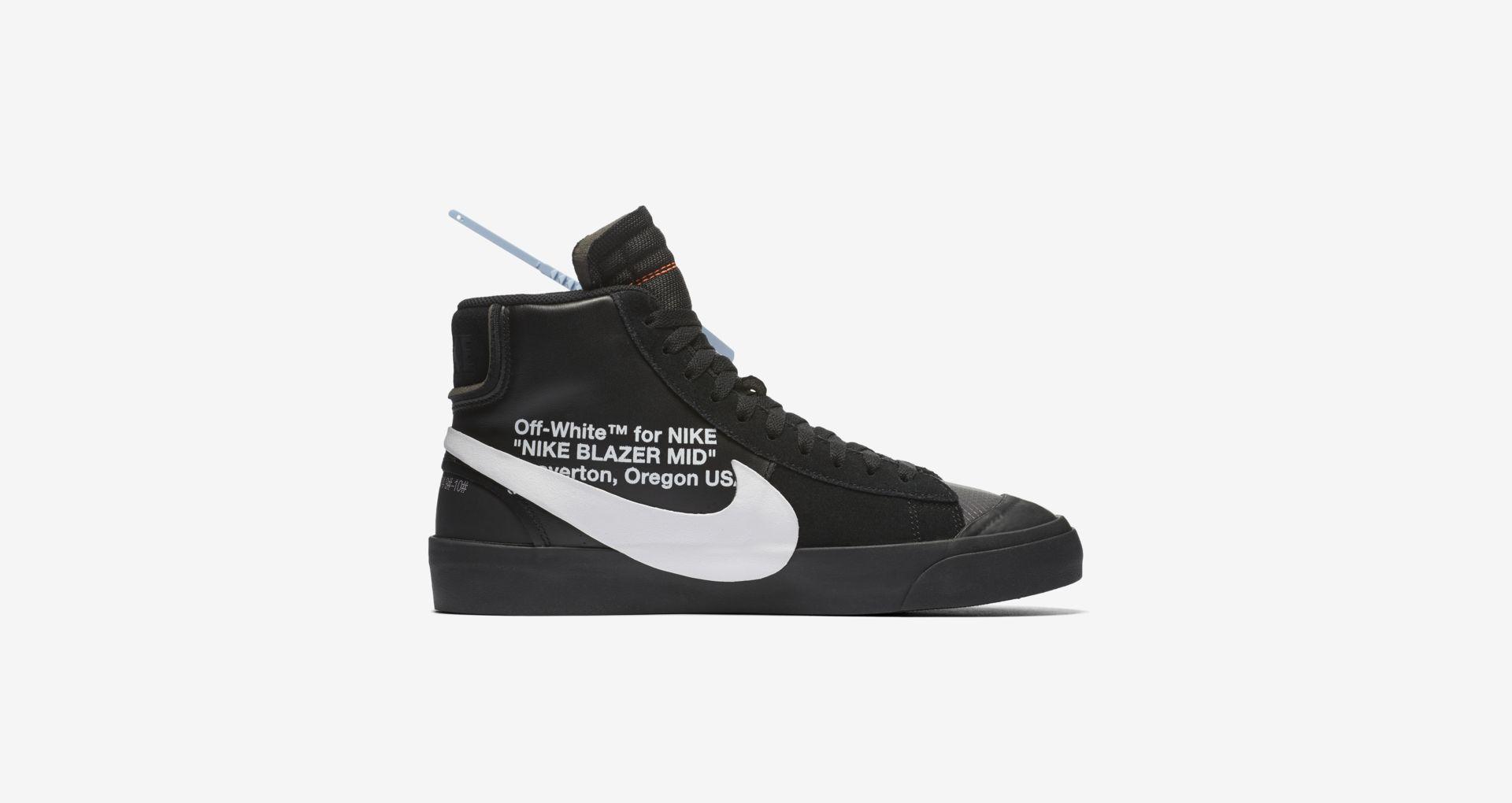 AA3832 001 Off White x Nike Blazer Mid Black 4