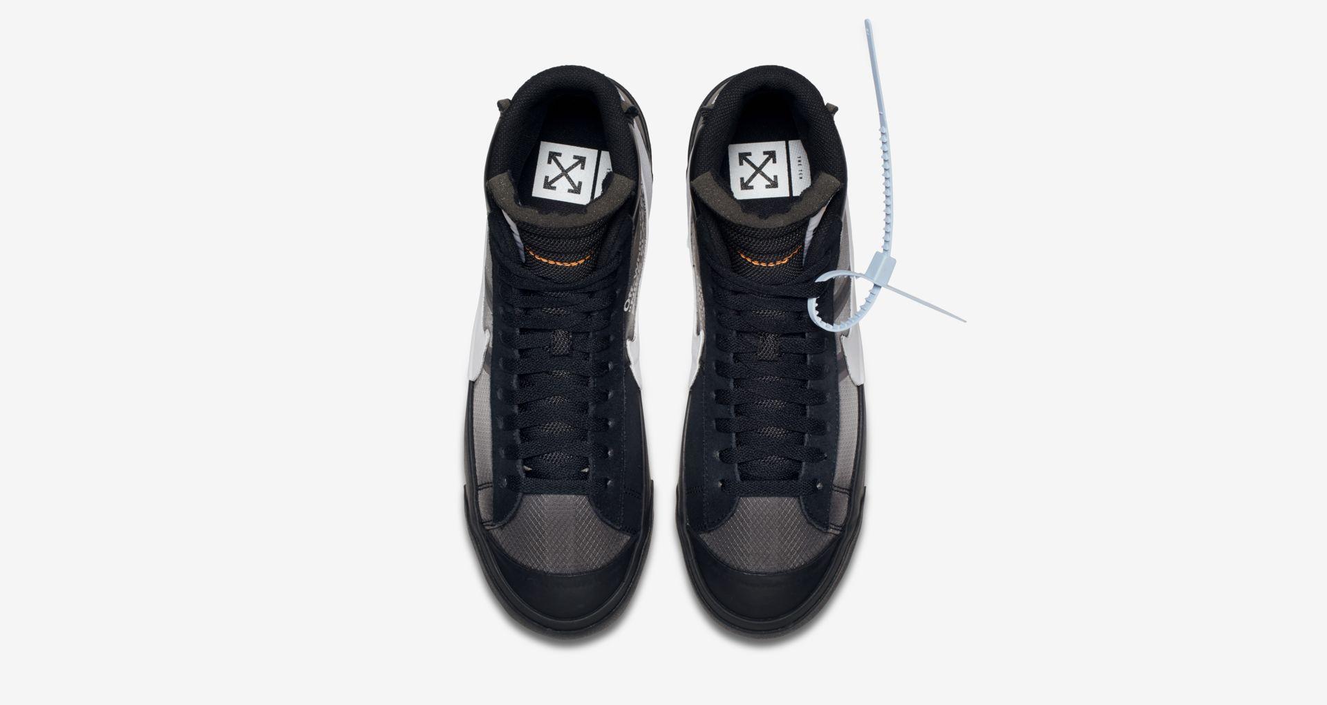 AA3832 001 Off White x Nike Blazer Mid Black 5