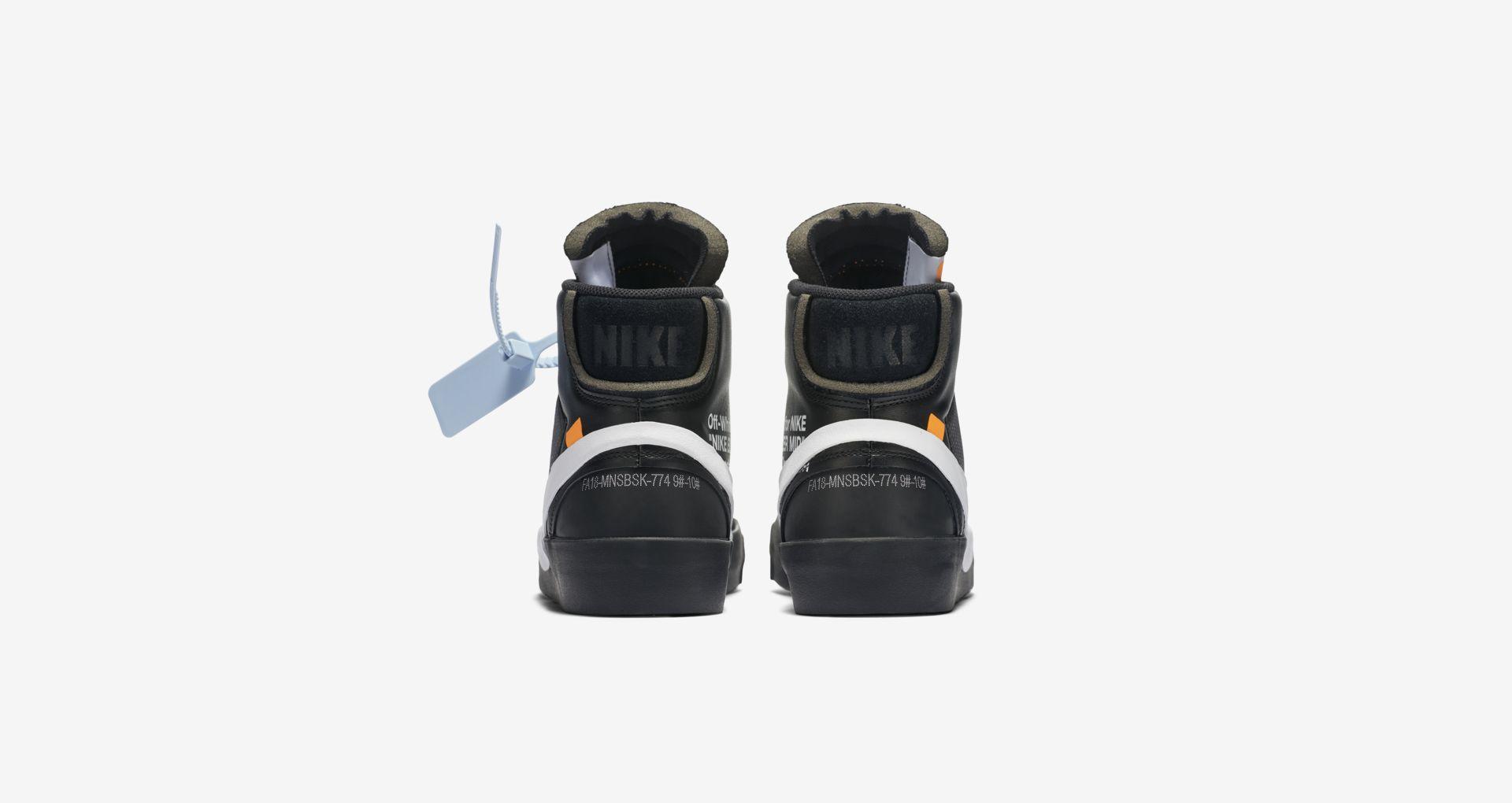 AA3832 001 Off White x Nike Blazer Mid Black 6