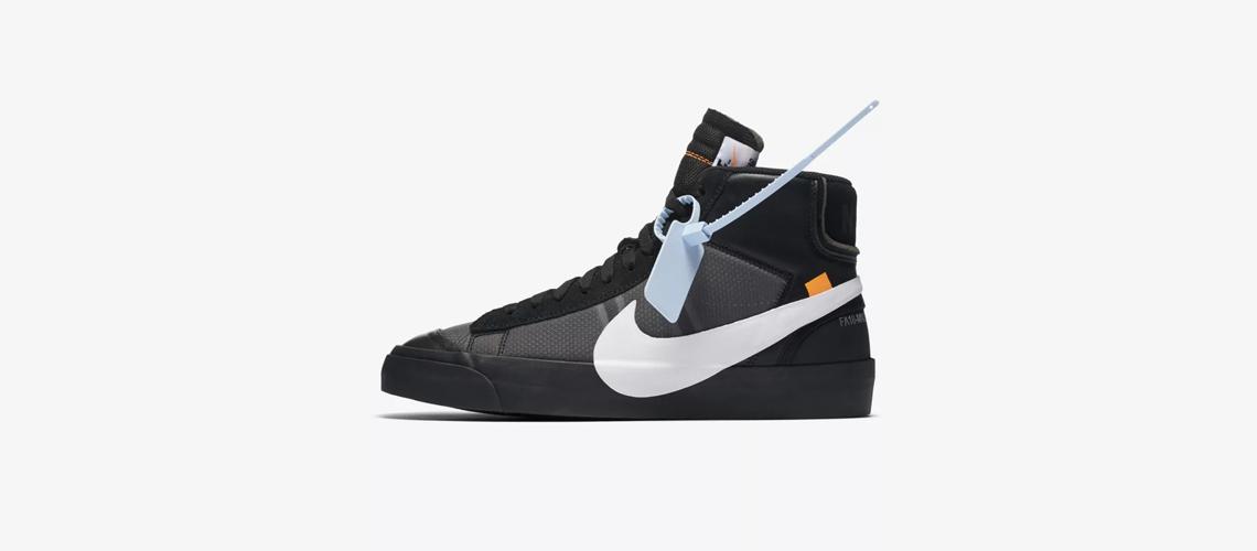 AA3832 001 Off White x Nike Blazer Mid Black