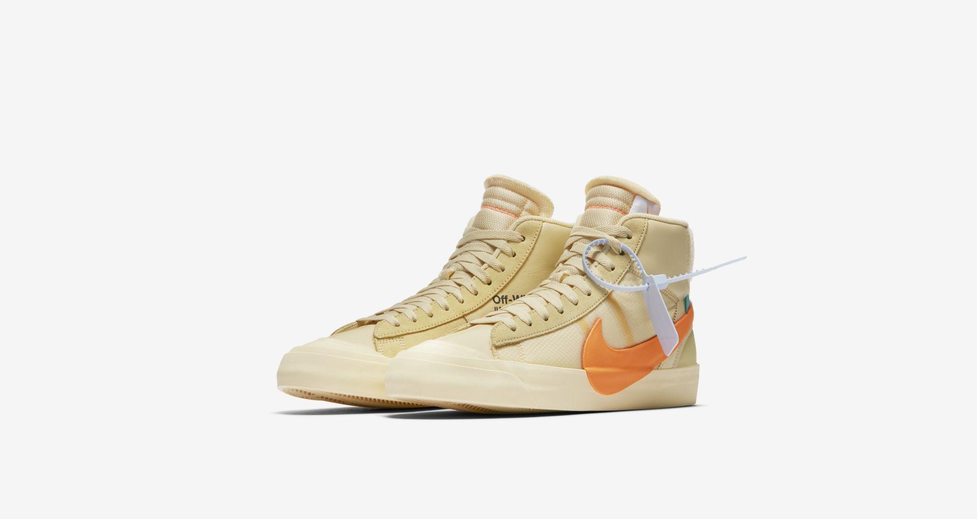 AA3832 700 Off White x Nike Blazer Mid Orange 1