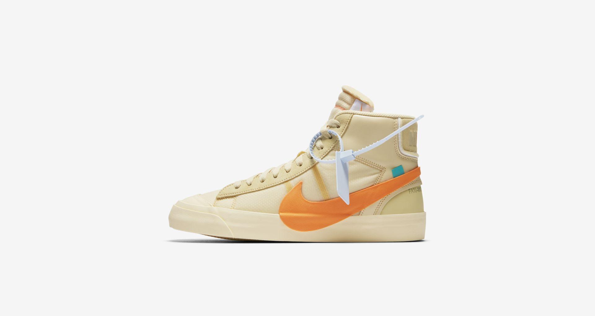 AA3832 700 Off White x Nike Blazer Mid Orange 2