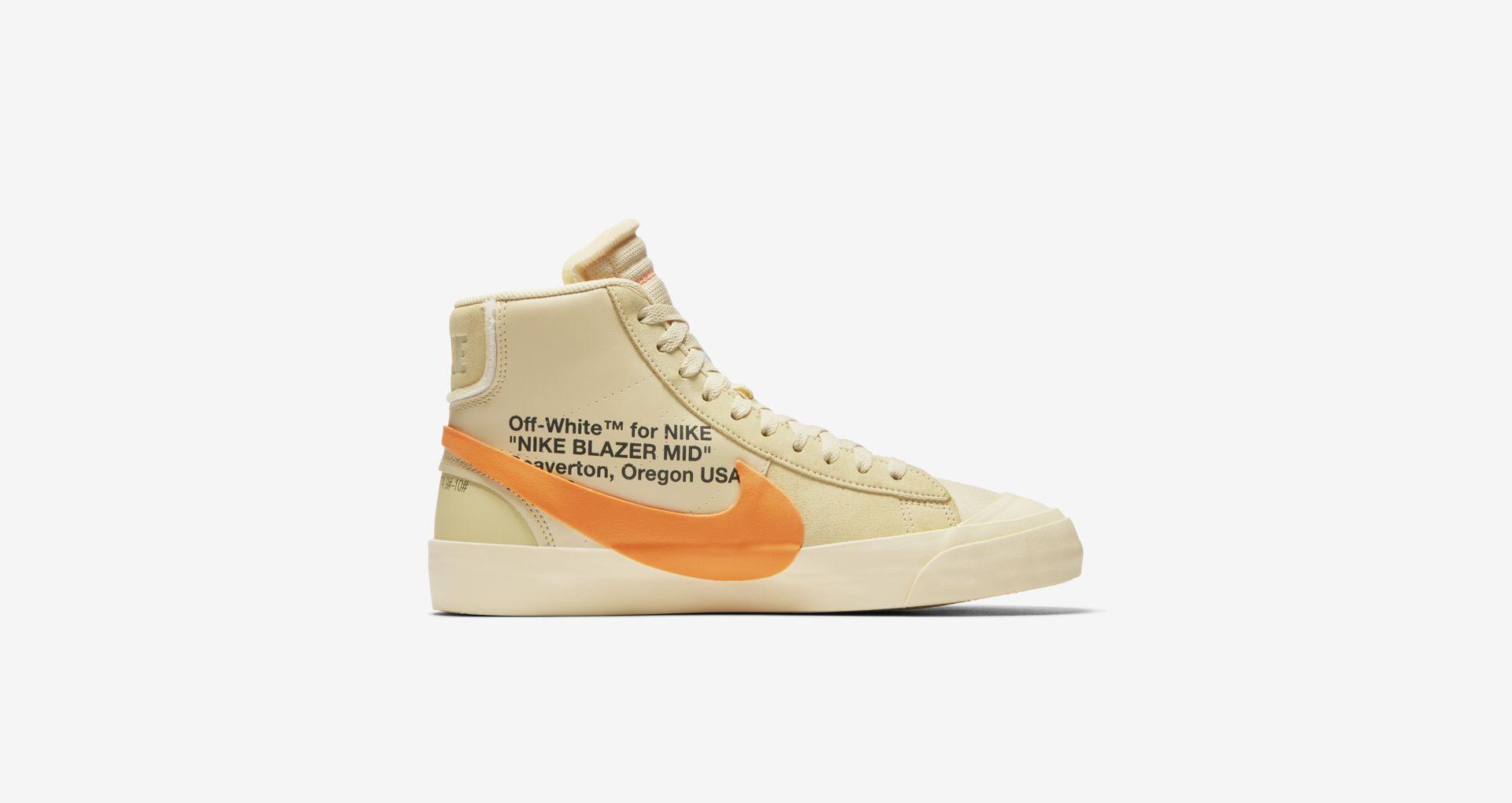 AA3832 700 Off White x Nike Blazer Mid Orange 4