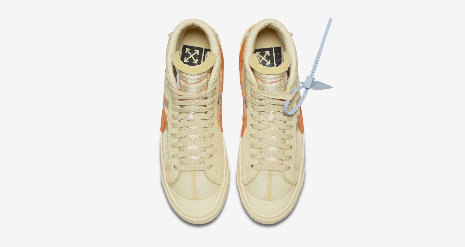 AA3832 700 Off White x Nike Blazer Mid Orange 5