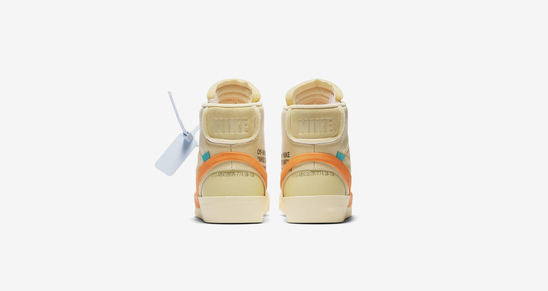 AA3832 700 Off White x Nike Blazer Mid Orange 6