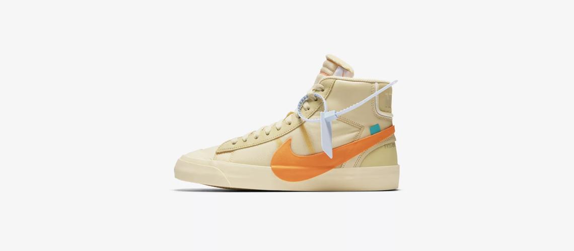 AA3832 700 Off White x Nike Blazer Mid Orange
