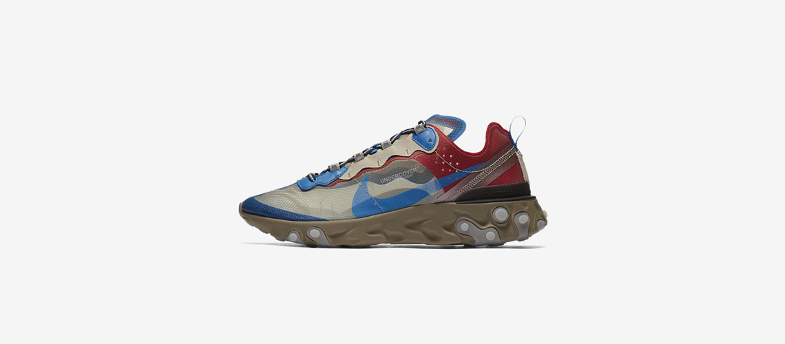 BQ2718 200 Undercover x Nike React Element 87 Light Beige