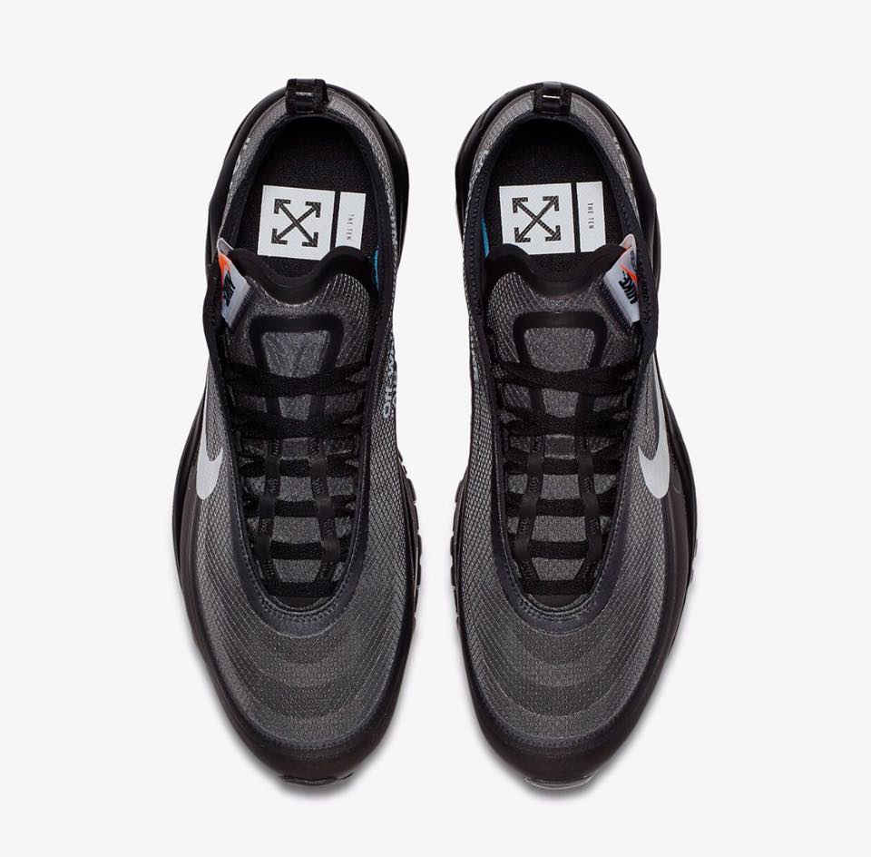 AJ4585 001 Off White x Nike Air Max 97 Black 2